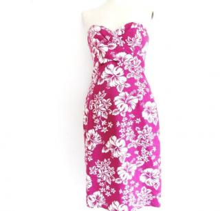 MICHAEL KORS fuschia floral dress