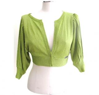 Galliano lime green shrug