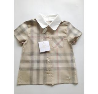 Burberry Baby Short Sleeve Shirt 6 months