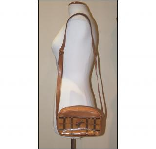 BURBERRY PRORSUM tan leather shoulder bag