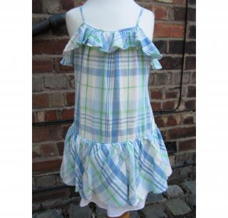 RALPH LAUREN GIRLS SUMMER DRESS CHECKED AGE 3
