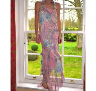 Moda Rosa Silk Rose Dress