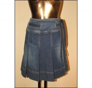 BURBERRY pleated denim skirt, size 8