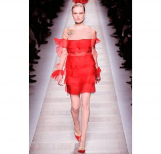 Valentino Silk Dress RTW Fall 10/11