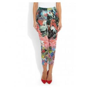 Issa Silk floral print tapered trousers