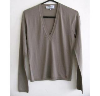 Yves Saint Laurent khaki sweater