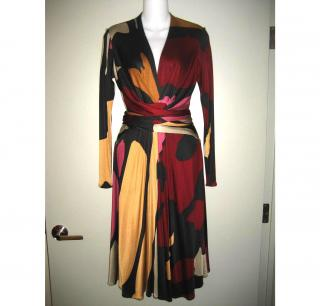 ISSA London Silk Jersey Dress Sz US8 UK12