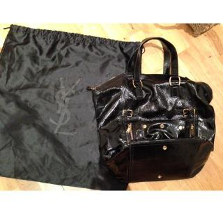 YSL DownTown Large Patent Leather Bag