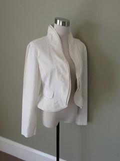 Armani White Cotton Jacket