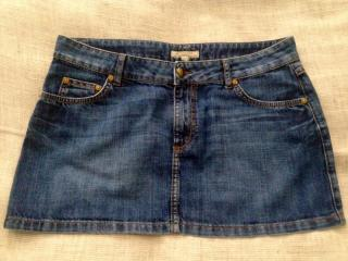 BURBERRY LONDON BLUE DENIM SKIRT SIZE UK 10