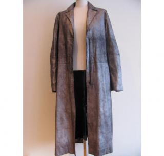 Max Azria metallic silver coat