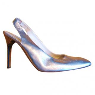 Russel & Bromley silver shoes
