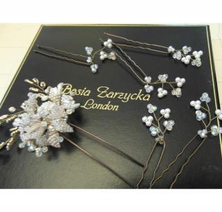 Wedding Hair pins by Basia Zarzycka.