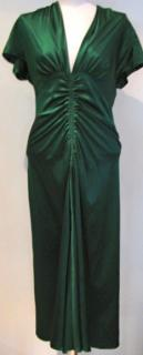 Emerald Green Silk Luisa Beccaria Dress