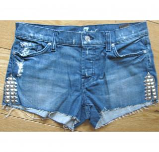 7 For All Mankind Studded Distressed Shorts