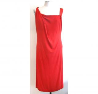 Vivienne Westwood Anglomania red drape dress