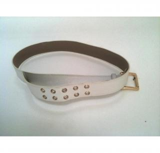 Michael Kors belt - white and gold