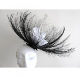 Hostie Hats feather fascinator