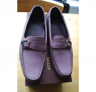 Bally lilac slip on pumps