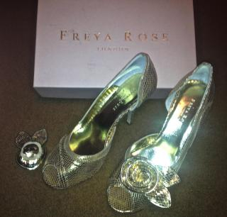 freya rose gold leather shoes