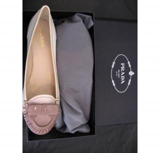 Prada two-tone kitten heels nude