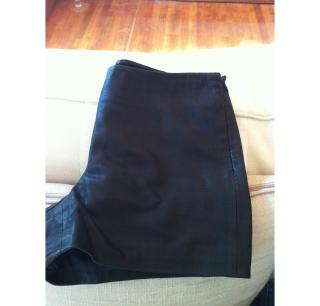 Theory Leather Shorts