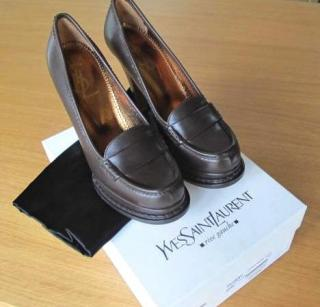 Yves Saint Laurent Jeanne 90 Mocassin High Heels