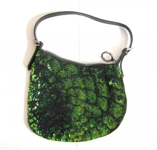 Fendi Green Sequin Handbag
