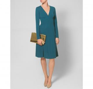 ISSA Long-sleeved dress teal