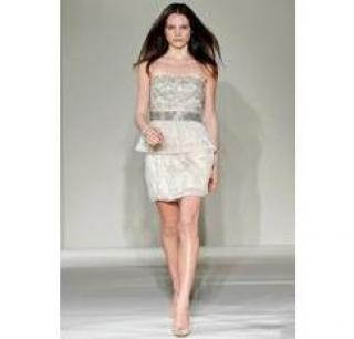 Collette Dinnigan beaded strapless dress