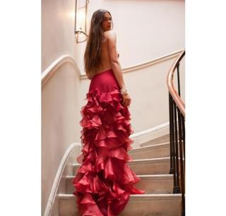 Roberta Furlanetto red ruffle skirt