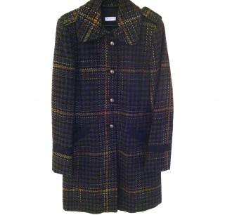 MAX & CO. Wool Exploded Check Coat