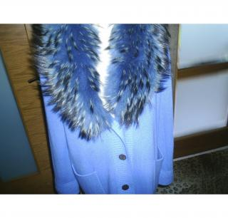SAM RONE CASHMERE/FOX KNITTED COAT