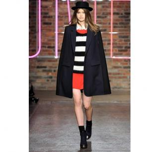 BNWT DKNY Cape Coat Navy/Black Wool